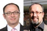 Achim Hoffmann, Kanzler der TH Nürnberg (links, Foto: Kurt Fuchs) als Vorsitzender des Verwaltungsrats und Prof. Dr.-Ing. Sascha Müller-Feuerstein