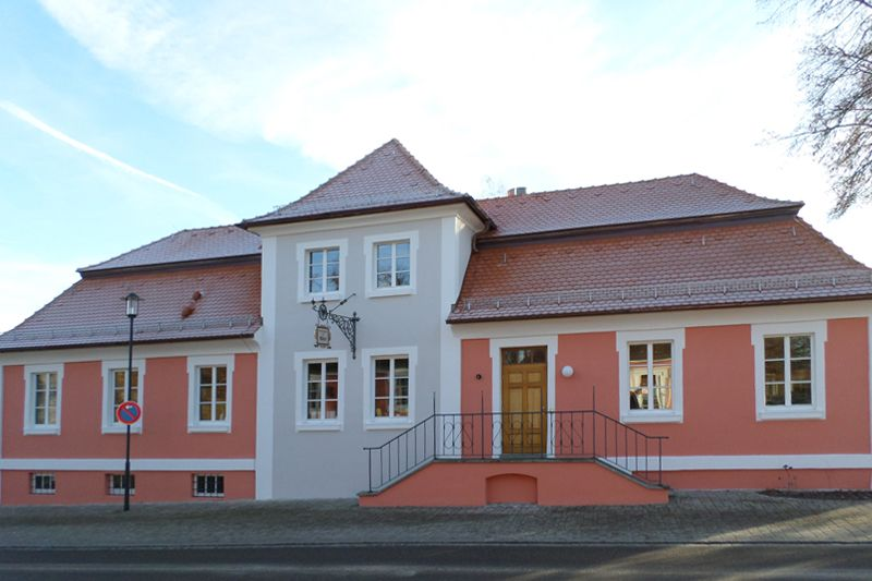 Neue Fassade für die Mensateria Gastwirtschaft zum Adler Triesdorf