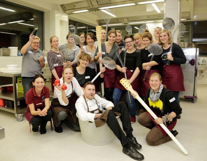 Vegane Kochshow mit begeisterten Teilnehmer/innen