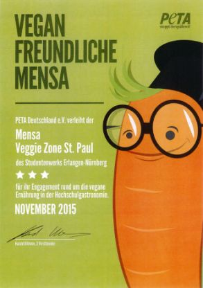 Veganfreundliche Mensa: Veggie Zone St. Paul erneut mit Top-Bewertung