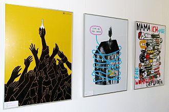 """""""Wie Ge-Wohnt"""": Ausstellung zum 29. Plakatwettbewerb des Deutschen Studentenwerks im Erlanger Studentenhaus"""