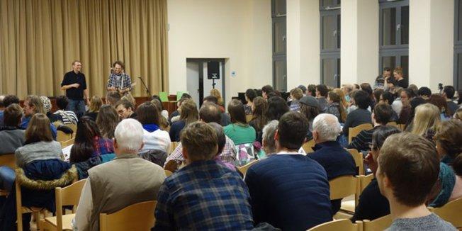 20 Jahre Musenhäppchen - volles Haus am 23.11.2016 in Erlangen