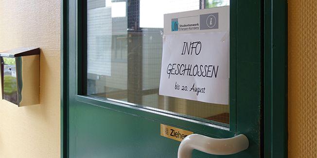 Info in Nürnberg bis 20.8. geschlossen