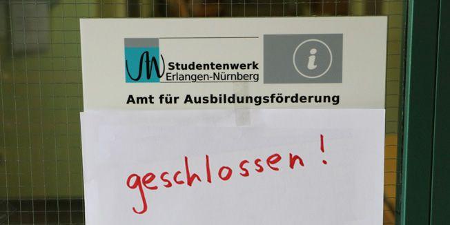 Amt für Ausbildungsförderung in Nürnberg am 01. Juni geschlossen