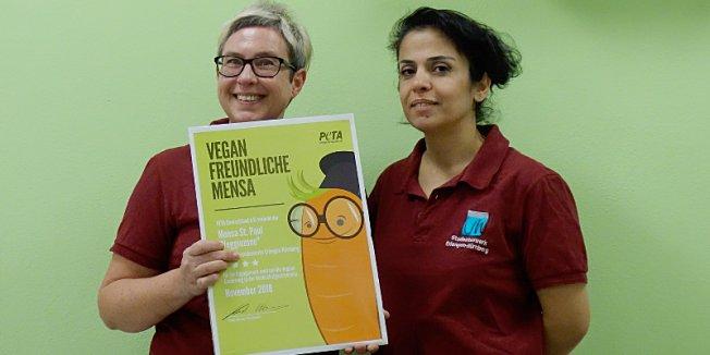 PETA-Auszeichnung: Erneut Spitzenwertung für Veggie Zone St. Paul