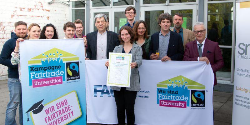 Titel der Fairtrade-University an die FAU verliehen