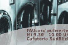 FAUcard für Waschmaschinen aufwerten - Campus Süd