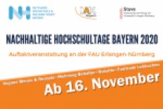 Nachhaltige Hochschultage ab 16. November