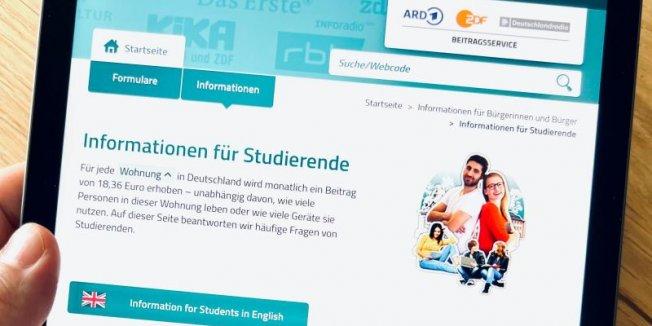 Beitragsservice informiert über Regelungen zum Rundfunkbeitrag für Studierende