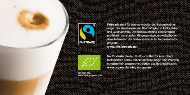 Bio- und Fairtrade-zertifizierter Kaffee beim Studentenwerk