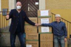 Verein Menschenrechte für China e.V. spendet dem Studentenwerk 4900 FFP2-Masken