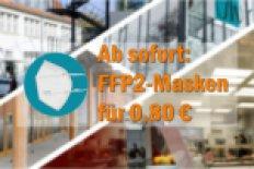 Verkauf von FFP2-Masken in allen Mensen und Cafeterien